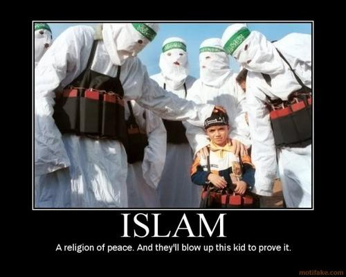 Islam. A religion of peace. And they'll blow up this kid to prove it.