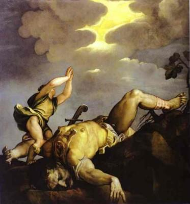 Titian. David et Goliath.